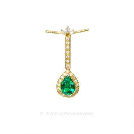 Yellow gold pendants specialist in fine colombian emeralds enlee wassons 19552 yellow gold pendantes aloadofball Choice Image