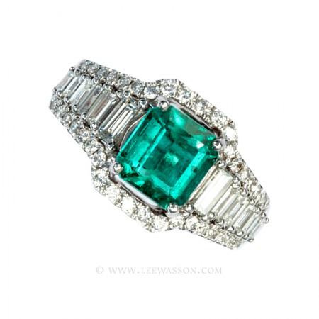 White Gold Rings Specialist in Fine Colombian Emeralds